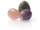 Three eggs made of stone